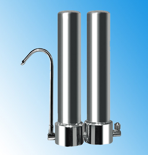 dual stainless steel water filter for fluoride