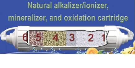 Natural alkalizer_ionizer,_mineralizer_and_oxidation_cartridge