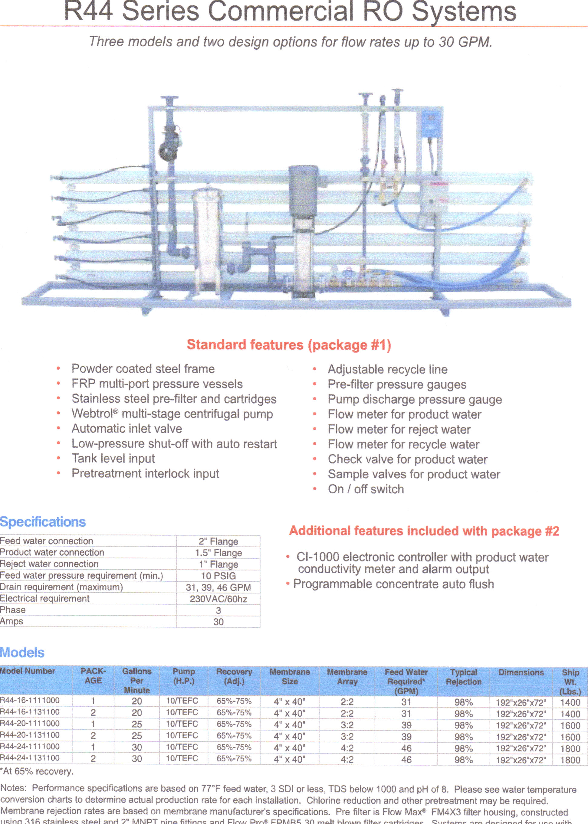 R44 commercial reverse osmosis systems Form 16s Meter Socket Diagram at bayanpartner.co