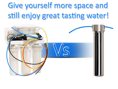 space saving water filter