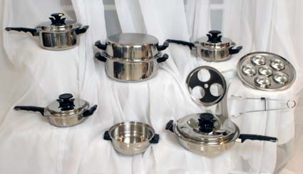 20 pc. waterless cookware
