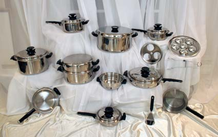 27 pc. waterless cookware