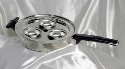3 5 Quart Stainless Steel 3 Ply Oil Core 12 Inch Skillet Waterless Whistle Valve