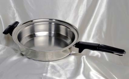 small fry pan of waterless cookware