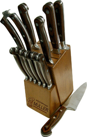 Muller knives and block