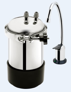 stainless 45 undercounter water filter